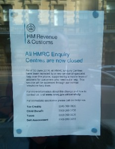 All HMRC Enquiry Centres are now closed